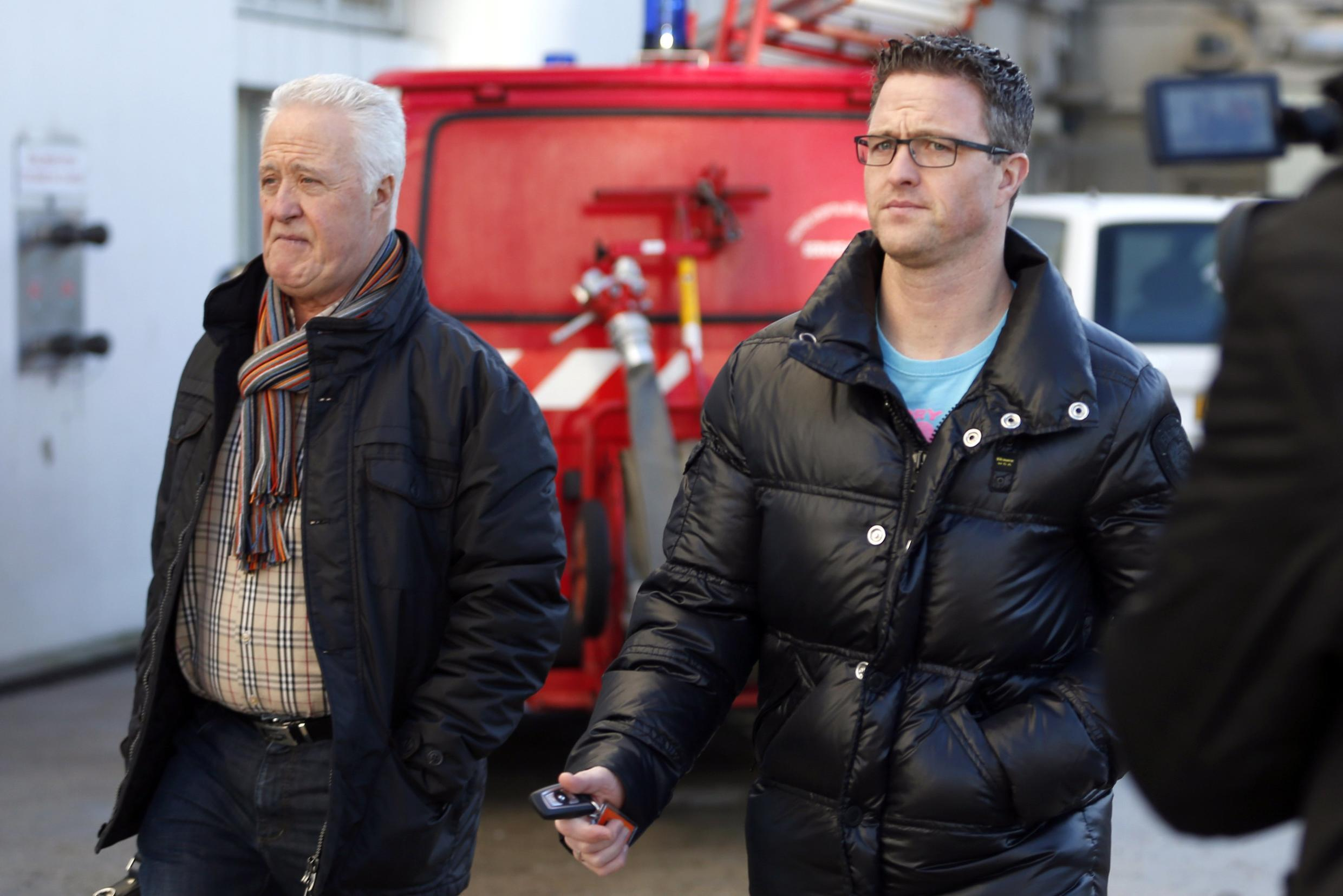 Schumacher's father Rolf and his brother Ralf in Grenoble last month