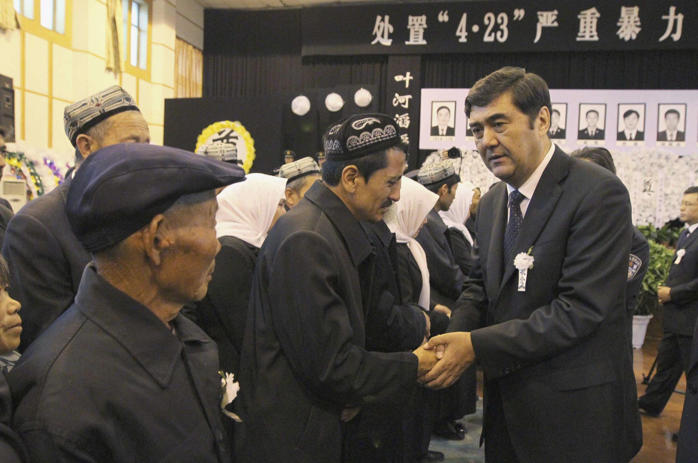 Nur Bekri, chủ tịch vùng tự trị Tân Cương. Ảnh chụp ngày 29/04/2013