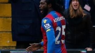 Depuis fevrier 2016 et ce but avec Crystal Palace Emmanuel Adebayor n'avait plus marqué en club.