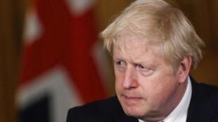 Le Premier ministre britannique Boris Johnson à Londres le 12 octobre 2020.