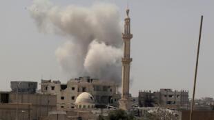 Сирийский город Ракка, неформальная столица группировки «Исламского государства», 20 августа 2017 года.