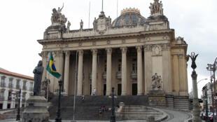 Le Palacio Tiradentes accueillant l'Assemblée législative de l'État de Rio de Janeiro