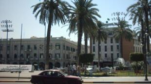 Une vue de Tripoli (la place Verte), capitale de la Libye.