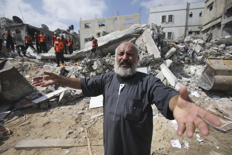 Một cảnh tượng ở Gaza ngày 29/07/2014 :
