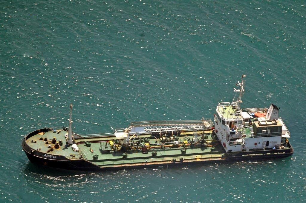 Le pétrolier Aris 13, au large des côtes du Puntland.
