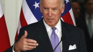 Phó Tổng thống Mỹ Joe Biden phát biểu trong cuộc gặp với Tổng thống Panama, tại Panama City, 19/11/2013