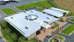 Un aperçu du pavillon présidentiel du futur aéroport international Blaise Diagne du Sénégal.