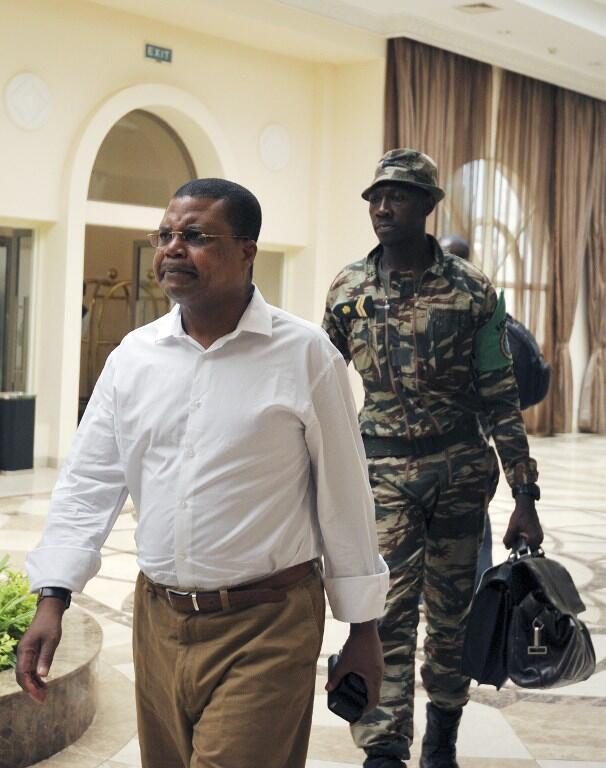 Nicolas Tiangaye, ici à Bangui le 27 mars 2013, a été confirmé au poste de Premier ministre centrafricain.