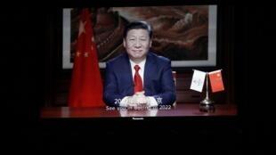 中国国家主席习近平于韩国平昌冬奥会闭幕式资料图片