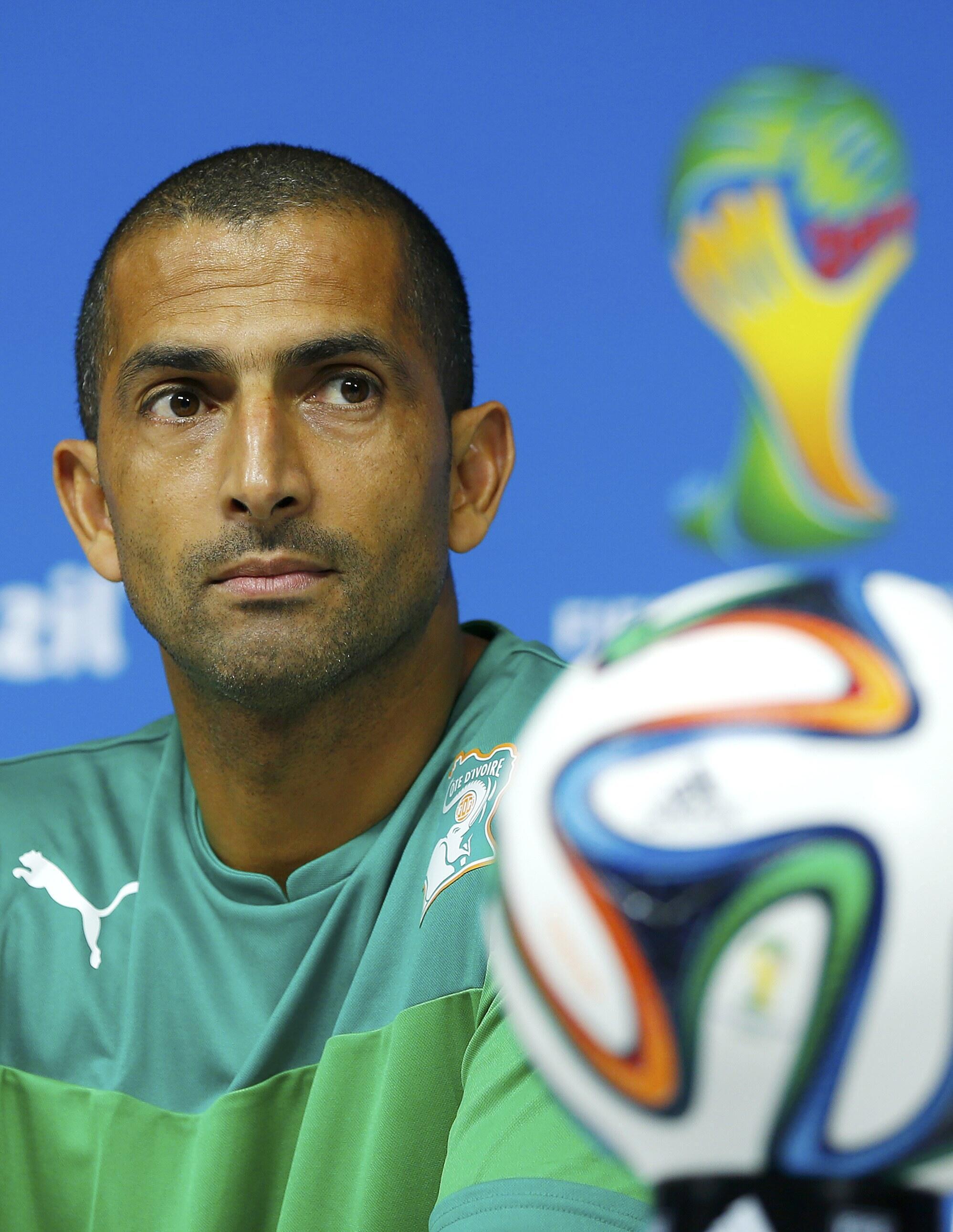 Sabri Lamouchi, sélectionneur de la Côte d'Ivoire, à l'Arena Pernambuco de Recife, le 13 juin 2014.