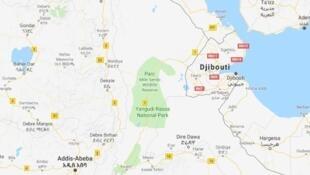Djibouti, enclave de la corne de l'Afrique.