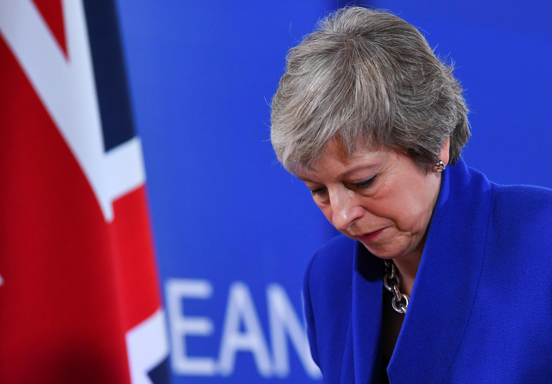 Theresa May, a 25 de Novembro de 2018 em Bruxelas.