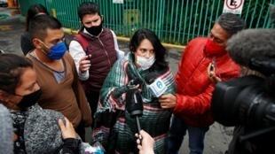 Des membres d'un collectif féministe ont occupé les bâtiments de la commission des droits de l'homme à Mexico pour dénoncer les féminicides, le 11 septembre 2020.