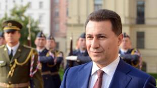 Le Premier ministre de la Macédoine, Nikola Gruevski.
