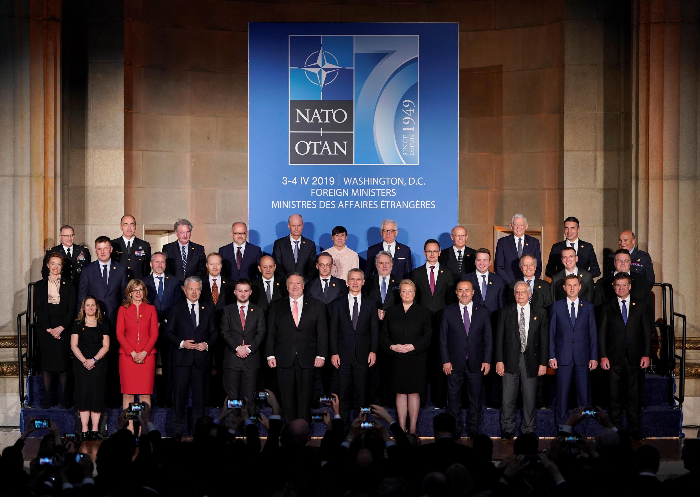 Ministros das Relações Exteriores da Otan durante aniversário comemorando 70 anos da OTAN em Washington. 03/04/19