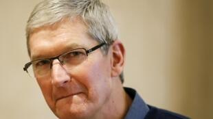 El patrón de Apple, Tim Cook,  9 de diciembre de 2015.