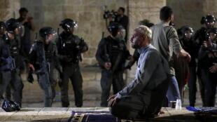 al aqsa jerusalem police israel palestinien heurts