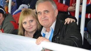 Юлия Парпулова с отцом в 2014 году
