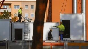 Construção de um centro para imigrantes em Koepenick, distrito de Berlim. 27 de novembro de 2014.