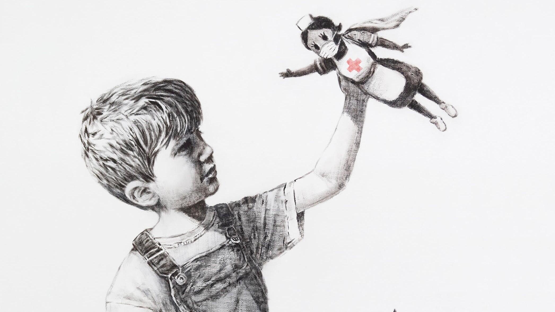 Картина Бэнкси, посвященная медикам