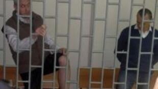 Станислав Клых и Николай Карпюк в суде Грозного.