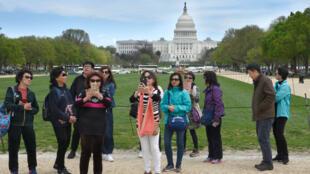 អ្នកទេសចរចិន នៅទីក្រុង Washington DC (photo d'illustration).