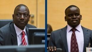 Naibu rais wa Kenya William Ruto na Mtangazaji Joshua Arap Sang