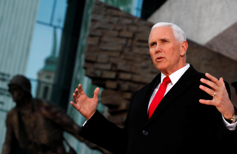 O vice-presidente americano Mike Pence fez duras críticas ao Irã