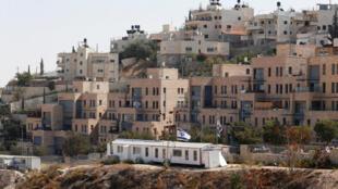 Prédios da colônia de Nof Zion, que será o maior assentamento israelense dentro de bairro palestino em Jerusalém, em 25 de outubro de 2017.
