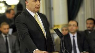 Jamel Gamra lors de sa prise de fonction en tant que ministre du Tourisme. Tunis, le 13 mars 2013.