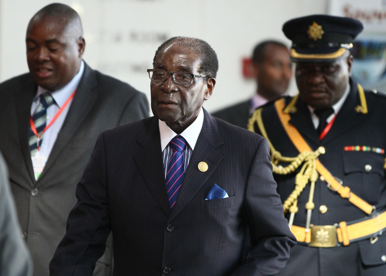 Le président zimbabwéen Robert Mugabe à la session ordinaire du sommet de l'Union africaine à Addis Abeba, le 31 janvier 2015.