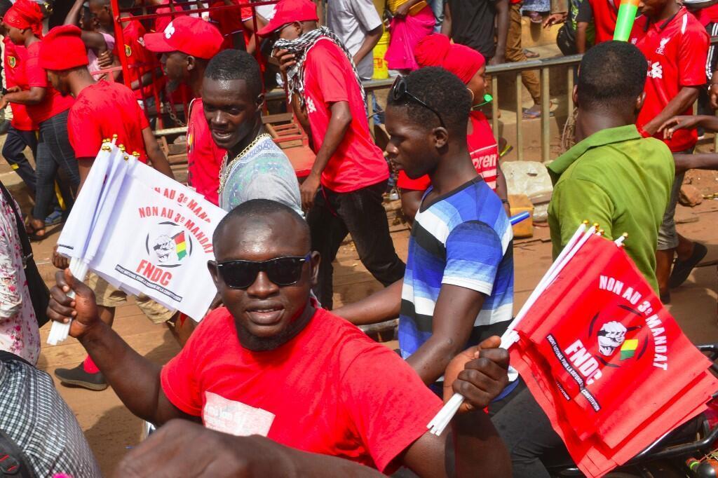 Des manifestants du FNDC dans les rues de Conakry le 6 janvier 2020 (image d'illustration).