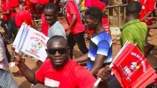 Des manifestants du FNDC dans les rues de Conakry en janvier 2020 (image d'illustration).