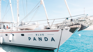 The Blue Panda is in the port of Marseille, in the south of France for a three days stop.
