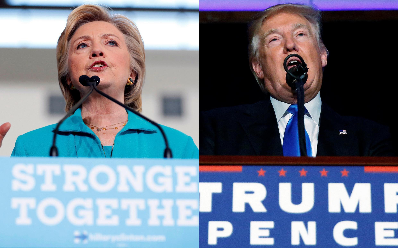 Les candidats à la campagne présidentielle Hillary Clinton et Donald Trump.