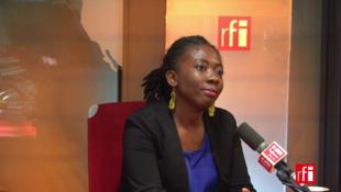 A deputada Danièle Obono, na RFI, em 17/10/17.