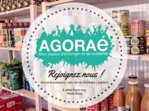 L'Agoraé est la première épicerie d'étudiants de Paris.