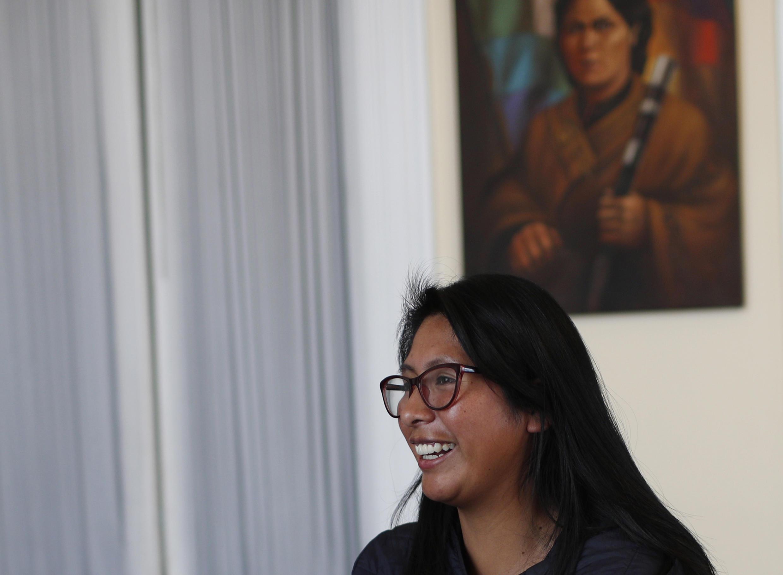 Eva Copa, disidenta del MAS, ganó al alcaldía de El Alto, bastión electoral de Morales.