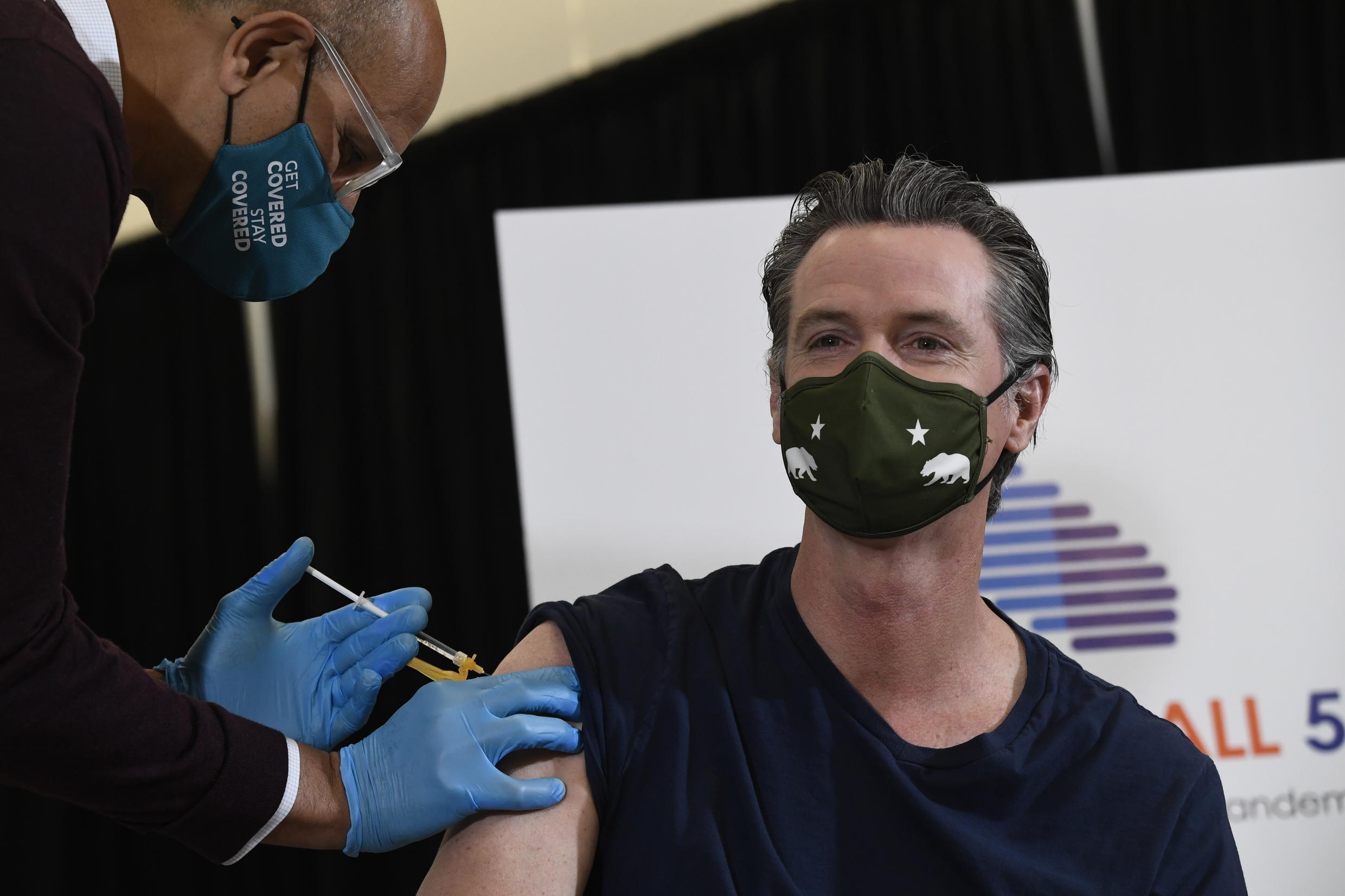 Image d'archive RFI : California Governor Gavin Newsom says the state will reopen fully if vaccinations keep up their current pace