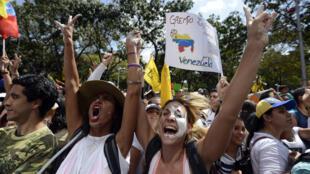 Manifestations d'étudiants contre le gouvernement du président Nicolas Maduro, Caracas, 12 février 21014.