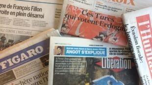 Primeiras páginas dos jornais franceses 27/03/2017