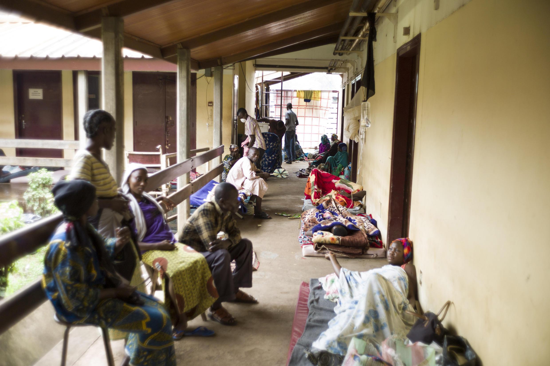 Couloir de l'hôpital principal de Bangui, en RCA, en août 2014 (Photo d'illustration).
