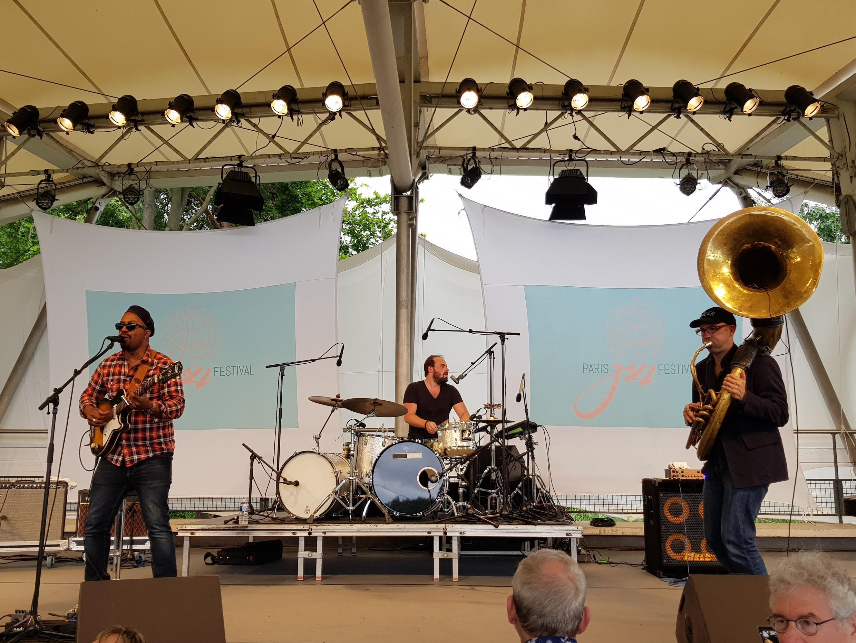 Delgrès performing at Paris Jazz Festival, July 2017
