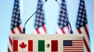 Le Canada, le Mexique et les Etats-Unis s'entendent sur un nouvel accord commercial, le 1er octobre 2018.