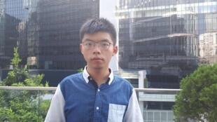 Hoàng Chi Phong (Joshua Wong), 22 tuổi, cựu thủ lĩnh Phong trào Dù Vàng 2014. Ảnh chụp ngày 07/08/2019 tại Hồng Kông.