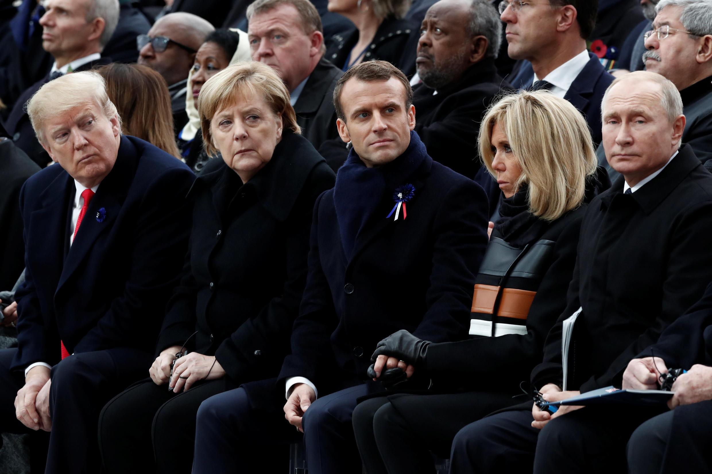 مراسم بزرگداشت یکصدمین سالروز پایان جنگ جهانی اول در پاریس. یکشنبه ٢٠ آبان/ ١١ نوامبر ٢٠۱٨