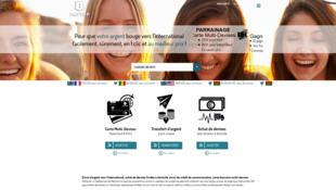 La page d'accueil du site Paytop propose depuis peu une carte multidevises qui est rechargeable à distance par Internet.