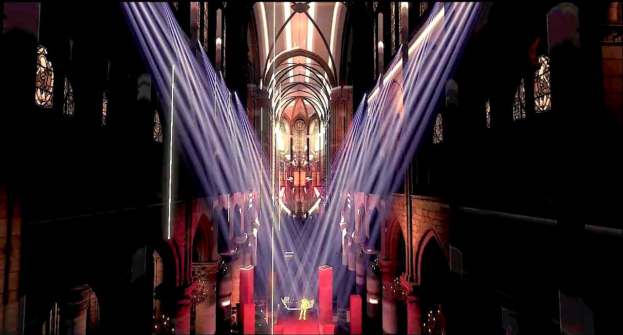 Jean-Michel Jarre apresenta seu concerto na catedral de Notre-Dame recriada em realidade virtual.