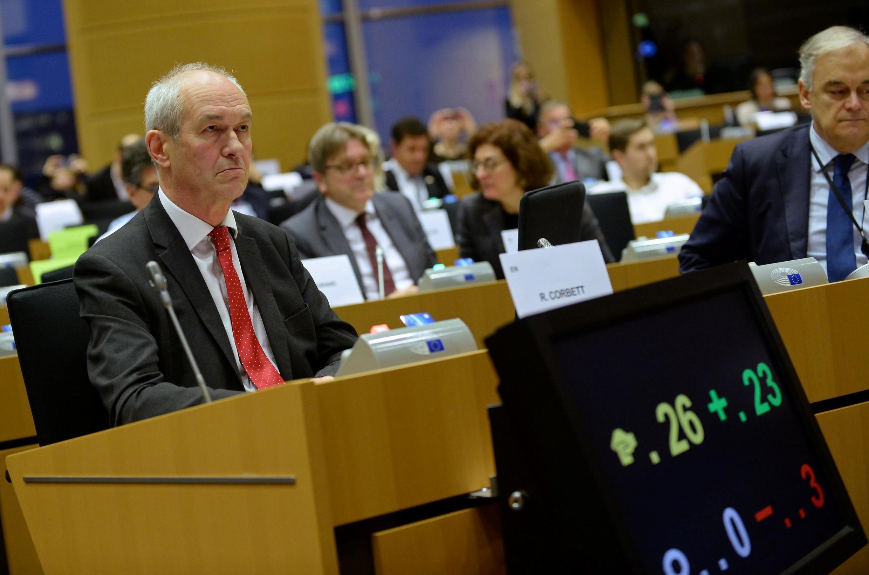 Richard Corbett, lãnh đạo Công Đảng trong phiên bỏ phiếu tại Nghị Viện Châu Âu, Bruxelles, Bỉ ngày 23/01/2020.