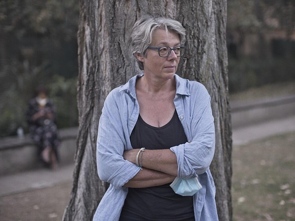 La photographe Marie Docher. Paris, septembre 2020.
